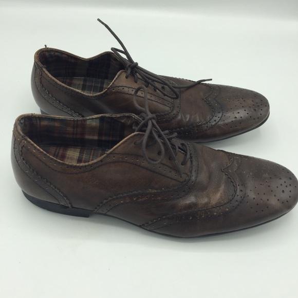 Bed Stu Distressed Wingtip Oxford Shoes Sz 8.5